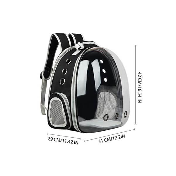 dog backpack dimensions
